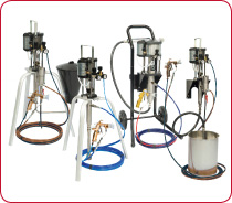 Binks MX Lite 5:1, 12:1, 31:1 and 32:1 / 4 and 12 litres per minute Air Assisted Airless and Airless Spray Packages