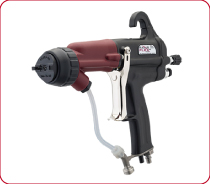 Ransburg RansFlex RFXi Indirect Electrostatic Manual Spray Gun Sprays water based paints without isolation equipment